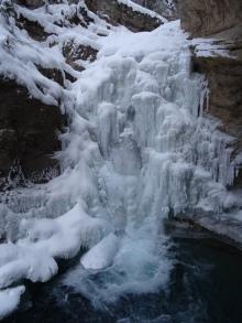 Johnston Canyon's Frozen Waterfall, Banff National Park Alberta